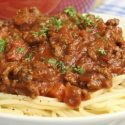Spagetti bolognaise with hidden veggies