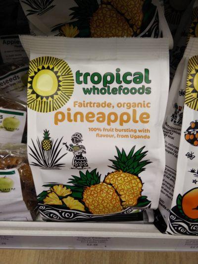 Tropical wholefood pineapple