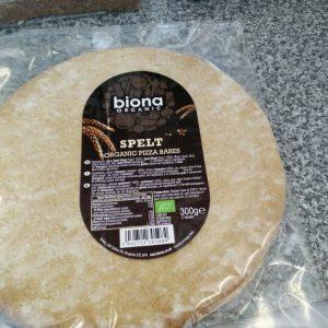 biona spelt pizza bases