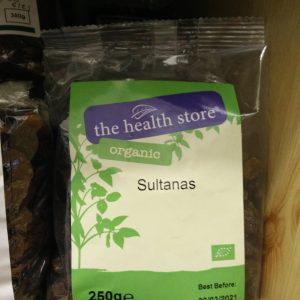organic sultanas